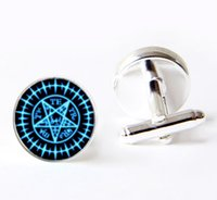 Wholesale Black Butler Kuroshitsuji Demon Contract Seal cuff links Sebastian Seal cufflinks handmade Art Glass Dome cuff links cufflinks