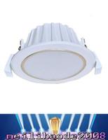 sistema de energía solar de 12 voltios 5W downlight / 7W downlight de techo empotrada brillante lámpara de la bombilla del panel abajo luz MYY envío libre