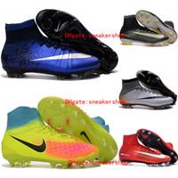 Wholesale Mens cr7 indoor kids soccer cleats football soccer shoes indoor turf shoes magista obra fg cleats boys football boots Women Original Black