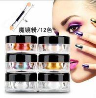 Wholesale 2016 NEWEST Professional nail art Nail pait Powders Mirror metal nail gel effect Soat off Nails