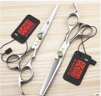 Wholesale NEW inch kasho shears cutting thinning scissors hair scissors Gem screws hairdressing scissors haircutting scissors hair shears JS HRC