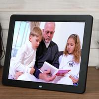 achat en gros de cadre numérique télécommande-Nouveaux cadres photo photo à la maison intelligents TFT LED Films numériques Réveil MP3 Cadre photo avec télécommande Touch Pen EU Plug