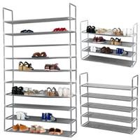 Wholesale Wall Shelf Closet Saving Storage Organizer Box Shoe Tower Rack Tiers Pairs
