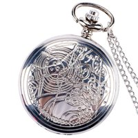 Wholesale Antique Pattern Design Doctor Who Mens Fob Watch Best Gift Pocket Watches Necklace Chain