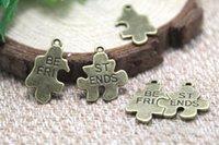 best autism - 10sets Puzzle Piece Charms Antique bronze JigSaw Puzzle Charm Pendants Autism Awareness best friend charm x27mm