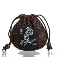 bag ladies tea - Buggy bag canvas bag Bracelet package tea bag keychain key wallet Purse change pocket coin pocket coin case rounded Closed bag pocket
