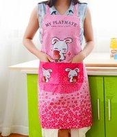 Wholesale Sleeveless Korean new rabbit kitchen apron waterproof adult women cooking aprons Cooking Women Restaurant Home Kitchen apron Princess Apron
