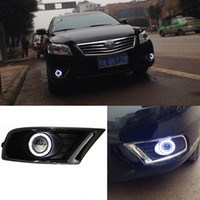 Wholesale New LED COB Angel Eyes HID Lamp Projector Lens Foglights For Toyota Camry