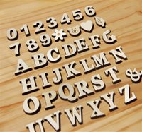 bee homes - DIY wood carved letters A Z English letters scrabble spelling bee letters home decoration stationery accessories wood letters education