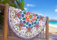 Wholesale Round Beach Towel Sarong bath towels Party wedding Christmas decorations cotton printed round table cloth vintage yoga picnic mat wall decor