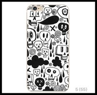 apple interesting - New Originality Interesting Skull head TPU Phone case For iPhone plus soft back cover case back cover shell proof dust