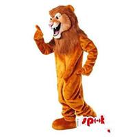 Wholesale Customized Fierce Brown lion mascot costume Fancy Dress Halloween Dress Adult