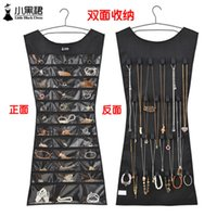 Wholesale Hanging Dress vest style Organiser Double Sided storage hanger bag scarf hanger