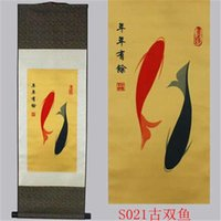 ancient chinese scrolls - New product on sale selling silk scroll decorations feng shui national wind with Chinese characteristics the ancient Pisces
