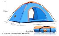 Wholesale Double single automatic tent outdoor camping tent camping tent Free to build speed open outdoor survival outdoor sports protection