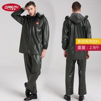 Wholesale Thousands of adult in the green rain raincoat rain pants suit to wear motorcycle riding the new import site