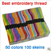 best embroidery thread - 100pcs box Cross stitch cotton thread best embroidery thread colors mix good choice for beginners