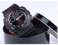 Wholesale NEW METAL BOX CASIO G GA100 WATCH SPORTS WATCHES Sport Watches Promotion Hardlex New Arrival Plastic Unisex Retail Fashion G Watch ga