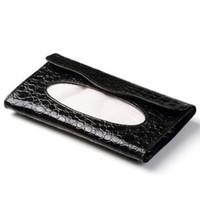Wholesale free shinppingOpen Xin Bao Car Tissue Tissue Box black white crocodile pattern tissue box car interiors