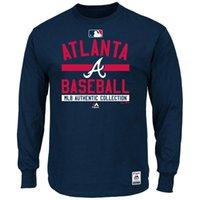 Baseball big atlanta - 2016 New MLB Men Atlanta Braves T Shirt Majestic Navy Big Tall Collection Team Property T Shirts MLB Baseball T Shirt