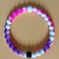 beaded chain findings - 2016 Newest Water Shark Neon Color Silicone balance Bracelet Mud and Water Black and White Beads Silicone Bracelet Gift Find Your Balance