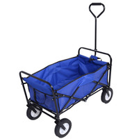 Wholesale Collapsible Folding Wagon Cart Garden Buggy Shopping Beach Toy Sports Red