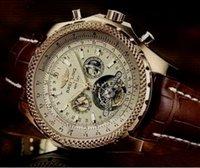 bentley sport - breitling new Tourbillon Sport Watches Men Bentley Mechanical Hand Wind Men s Wrist Watches Military Army Watch bb