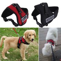 basic store - Big Dog Soft Adjustable Harness Pet Large Dog Walk Out Harness Vest Collar Hand Strap Pitbulls S M L XL XXL Worldwide Store
