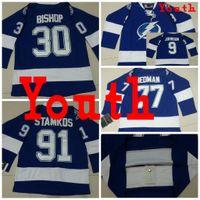 bay boy - 2016 Tampa Bay Lightning Youth Jerseys Tyler Johnson ICE Hockey Jersey Kid boy Ben Bishop Jersey Victor Hedman Steven Stamkos