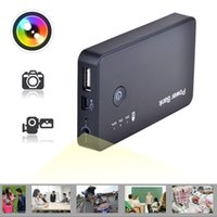 Wholesale 32GB HD P portable security camcorder MAH PowerBank camera Motion Detection video recorder Spy Hidden dvr