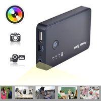 Wholesale HD P portable security camcorder MAH PowerBank camera Motion Detection video recorder Spy Hidden dvr