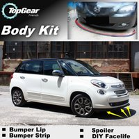 Wholesale Bumper Lip Lips For Fiat L Trekking Living MPW Front Skirt Deflector Spoiler For Car Tuning The Stig Recommend Body Kit Strip