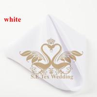 Wholesale White Color Poly Napkin For Wedding Decoration cm cm Good Quality