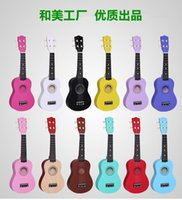 Wholesale Acoustic Guitar Inch Ukulele Small Children Basswood Wooden Ukulele Guitar High Elastic Nylon Strings Ukulele