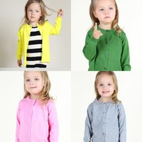 Wholesale 2016 Spring Autumn New Children Clothes Girl s Cardigan knitting Cotton Girl Fashion Outwear Sweaters MC0077