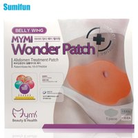 Wholesale 5Pcs MYMI Wonder Slimming Patch Belly Slim Patch Abdomen Weight Loss Fat burning Cream Navel Stick Efficacy Strong C067