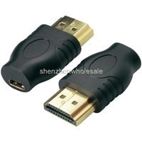Wholesale New HDMI Male TO Micro HDMI Female D Type to HDMI A type Male Cable Adapter converter