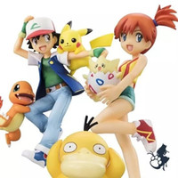 ash ketchum doll - 2016 New CM SHF Ash Ketchum Charmander Pikachu Misty Psyduck Togepi PVC action figure Collection Toys DOLL
