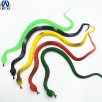 Wholesale 35cm Fake Snake Halloween Props Spoof Tricky Toys Simulation Snakes Serpentine Rubber Plastic Cobra Drop Shipping WS0026