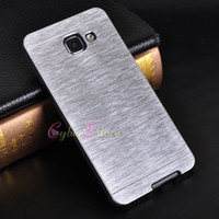 aluminium brushed - For Galaxy A710 A510 A310 A3 A5 A7 MOTOMO Hard Case Metal Aluminium Brush Back Cover for Galaxy A7100 A5100