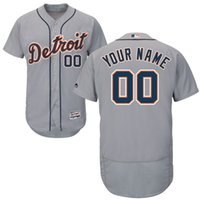 Wholesale Detroit Tigers Personalized Customized Mens Jersey Grey Custom Any Name Any Number Jersey Flexbase Collection Baseball Jersey