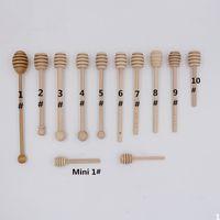 Wholesale Wooden Honey stick Dippers honey stir Honey rod Honey dipper cm cm kitchen tool free DHL