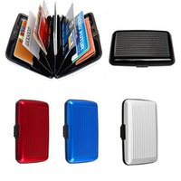 aluminum business box - 2016 Aluminum Business ID Credit Card Wallet Waterproof RFID Card Holder Pocket Case Box Worldwide Fast Shipping