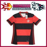 Wholesale clube brasileiro camisa de futebol Flamengo com o equipamento de camisa da equipe em casa Flamengo