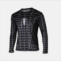 armour hero - Marvel Super Heroes Avenger Batman sport T shirt Men Compression Armour Base Layer Long Sleeve Thermal Under Top Fitness XS XL