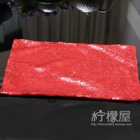 Wholesale customizable neat red sequined beads mat mat mat European napkin multicolor special offer