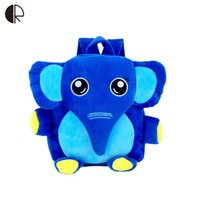 baby rucksacks - 2016 Cartoon Kids School Bags Cute Elephant Dolls Applique Canvas Backpack Mini Baby Toddler Book Bag Kindergarten Rucksacks