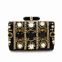 abs trade - Europe and the United States to supply luxury heavy jewel studded Dinner Bag Hand Beaded Evening Bag of high grade foreign trade