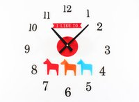 bedroom wall decorating ideas - 3D DIY clock cartoon horse child bedroom den decorated gift ideas birthday gift DIY wall stickers creative home decoration clock