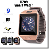 Wholesale DZ09 Smart Watch Dz09 Watches Wrisbrand Android iPhone Watch Smart SIM Intelligent Mobile Phone Watch Sleep State Smart watch Retail Package